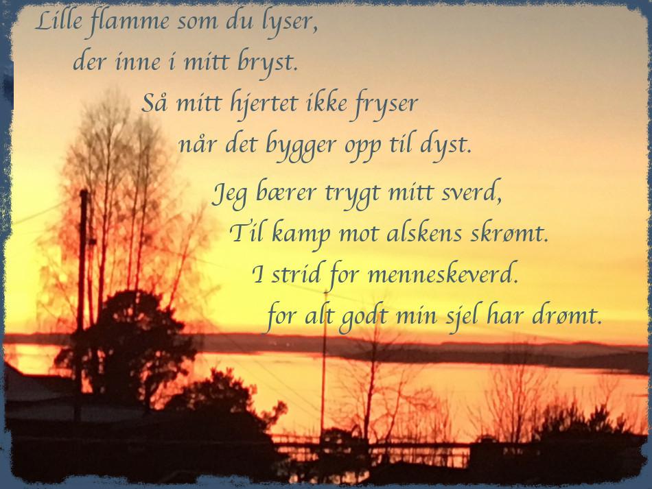 Vers, Dikt, Poesi, Poem, Lyrikk, Ordlek, grønn er spiren, hjem er et ord du ikke kan veie, ta plass i min båt, lille flamme som du lyser, Forfatter R.R. Kile