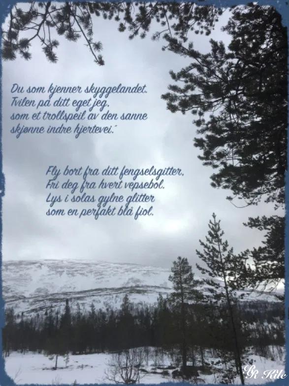 Poesi og dikt, vers, poem, lyrikk, versmål, verselinjer, ordlek, naturglede,  fruktens sødme blir drømt, fly bort fra ditt fengselsgitter, Forfatter R.R. Kile