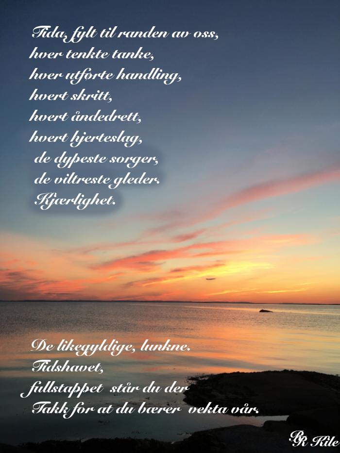 Vers og ordlek, få bære vekta av tanker, rihetens stjerne, der stjerner skinner om dagen, tidshavets bølger, dikt, lyrikk, poesi, forfatter R.R. Kile.