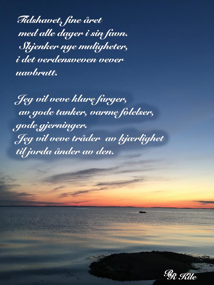 Vers og ordlek, verdensveven vever, frihetens stjerne, der stjerner skinner om dagen, tidshavets bølger, dikt, lyrikk, poesi, forfatter R.R. Kile.