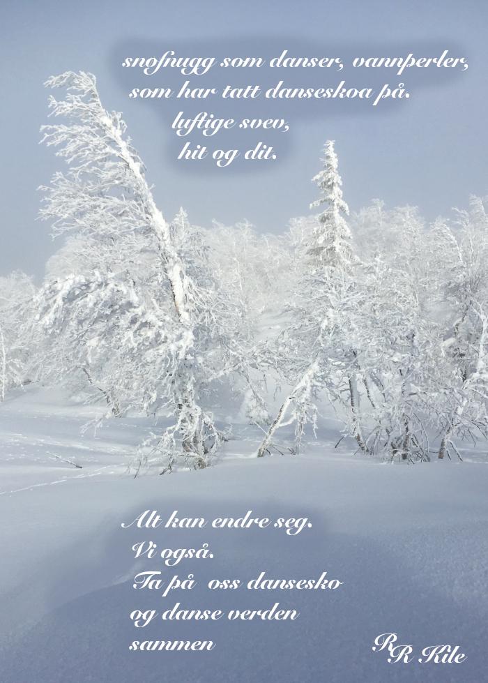 Poem, dikt, poesi, lyrikk, å danse vannperler sammen, ta på dansesko, Forfatter R.R. Kile