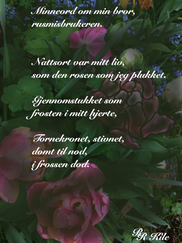 Dikt og Poesi, Vers, Poem,  Ordlek, Verselinjer, Versemål,  Lyrikk, blåveisdrøm, blomstrende gleder, berører hjerter blomstene, tornekronet, stivnet, Forfatter R.R. Kile