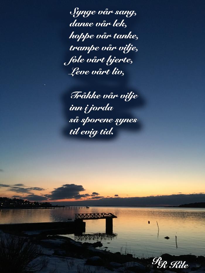 Poem og dikt, vers, versemål, lyrikk, verselinjer, ordlek, ordgleder, naturens diamanter,  Morgenrøden stiger av drømmespinn, hoppe vår tanke, Forfatter R.R. Kile