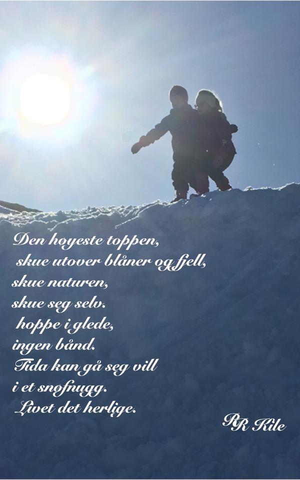 Vers og ord, dikt, Poem, versemål,. lyrikk,. verselinjer, ordlek, ordgleder, tungt og lett danser livet over jorda, av drømmespinn danser morgenrøden over jord,  tida kan gå seg vill i et snøfnugg, Forfatter R. R. Kile