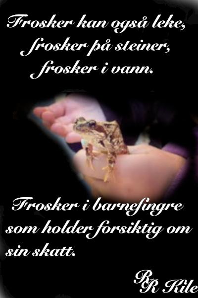 Vers, frosker kan også leke, skal vi sloss for alltid da? Nei vi skal lytte, måtte lys fra hjerter skinne i mørket,  de mangfoldige steder, poesi, vår mangfoldige verden, å pusse verdens tenner, forfatter R.R. Kile